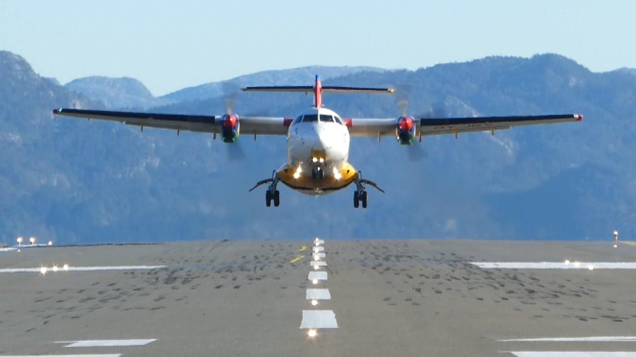 DAT ATR42-300 ved start fra Stord Lufthavn. (Foto: Stord Lufthavn)