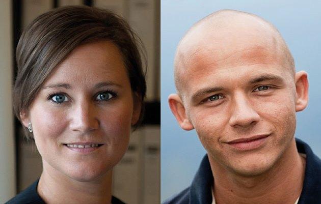Thilde Mortensen Waast og Anders Mark Jensen fra FPU.