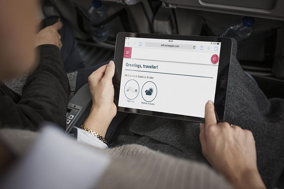 WiFi med Norwegian Internet Access (Foto: Norwegian)