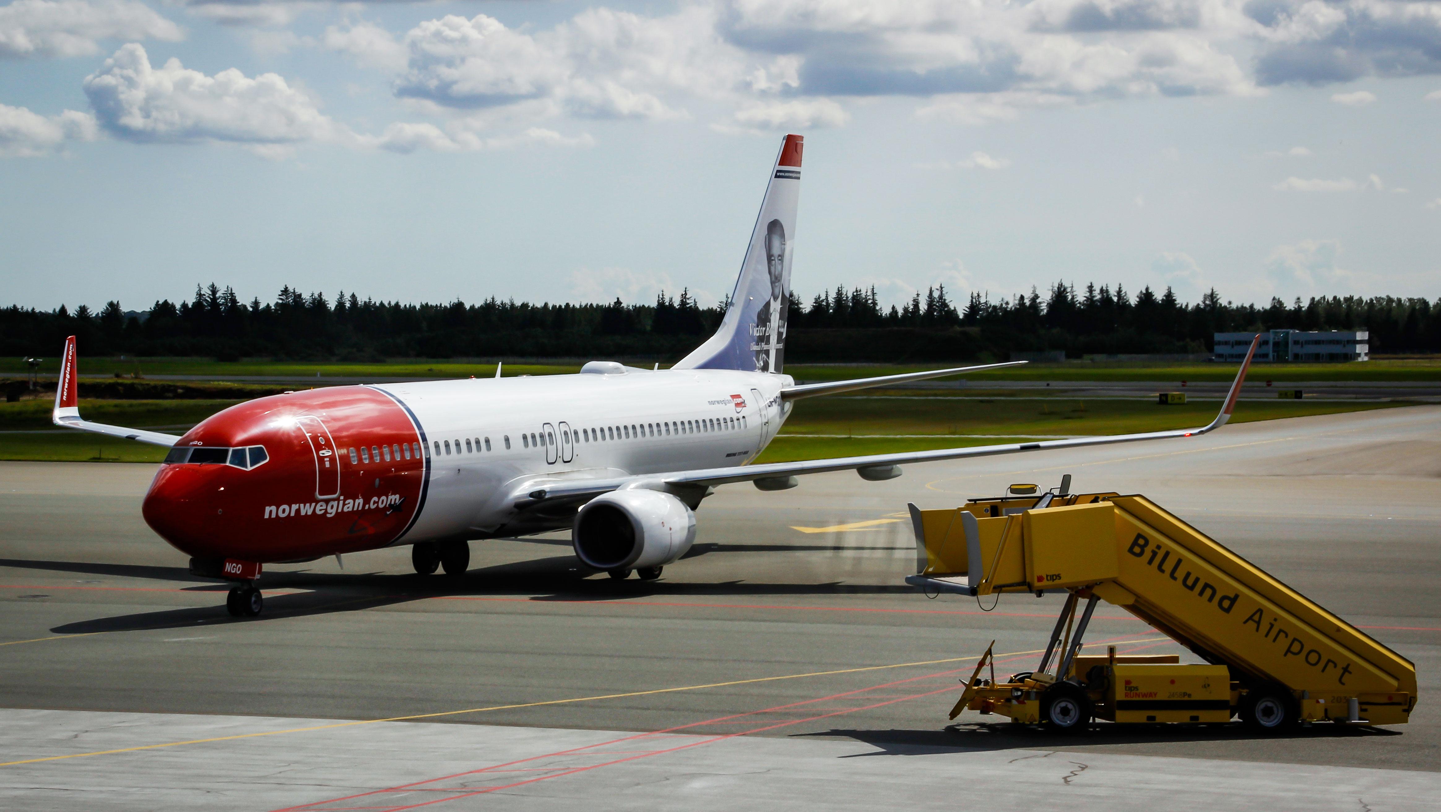 Norwegian-fly i Billund Lufthavn. (Foto: Henrik Meisel, BLL)