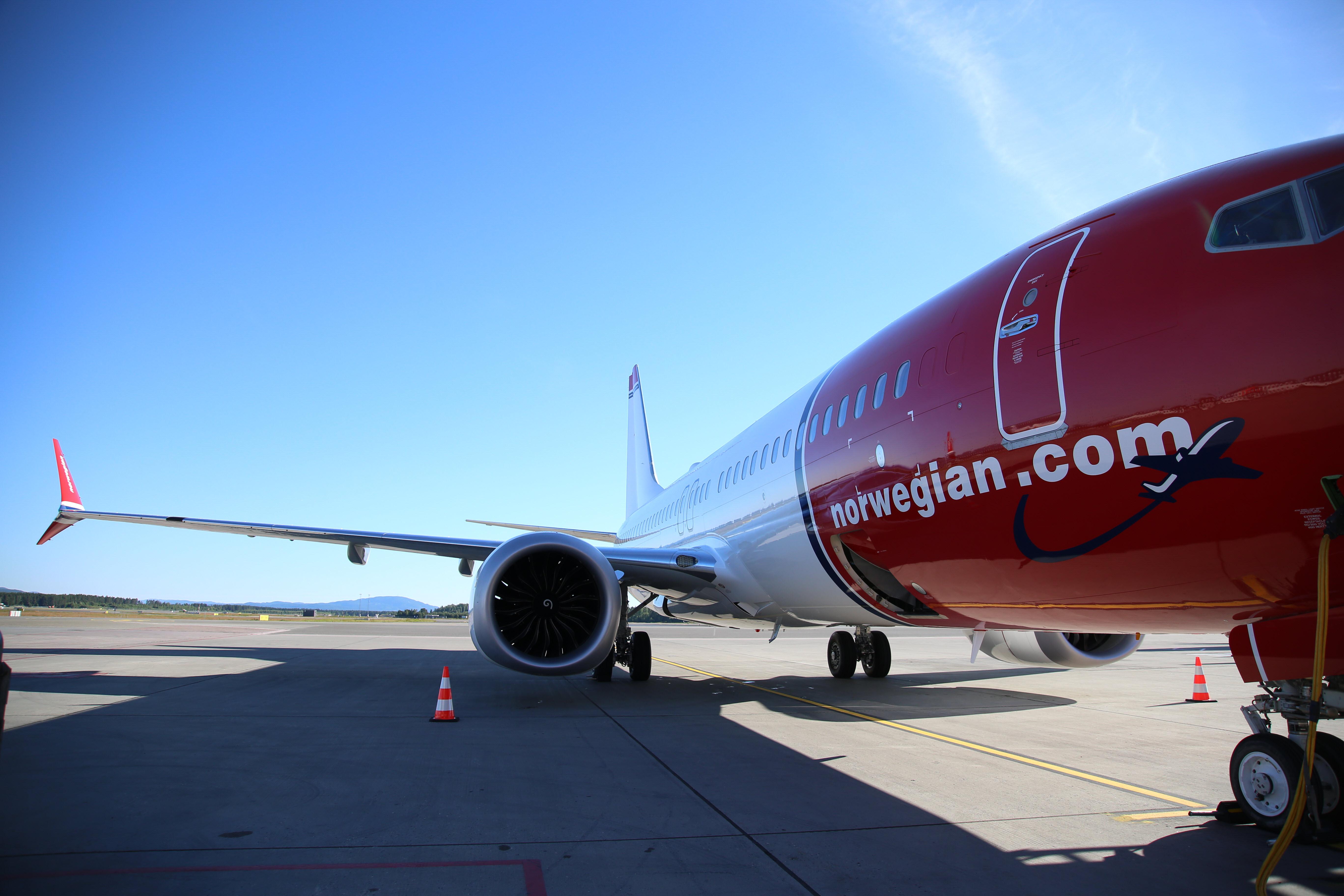 Boeing 737 MAX 8 i Oslo Lufthavn. (Foto: Norwegian)