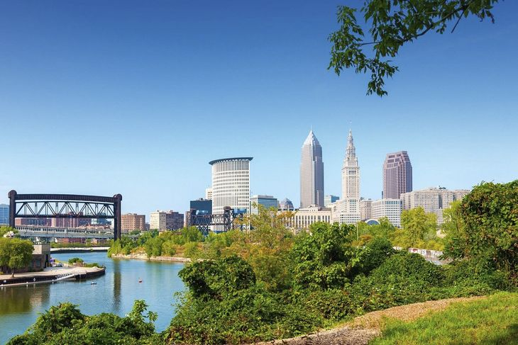 Cleveland i den amerikanske delstat Ohio. (Foto: Icelandair)