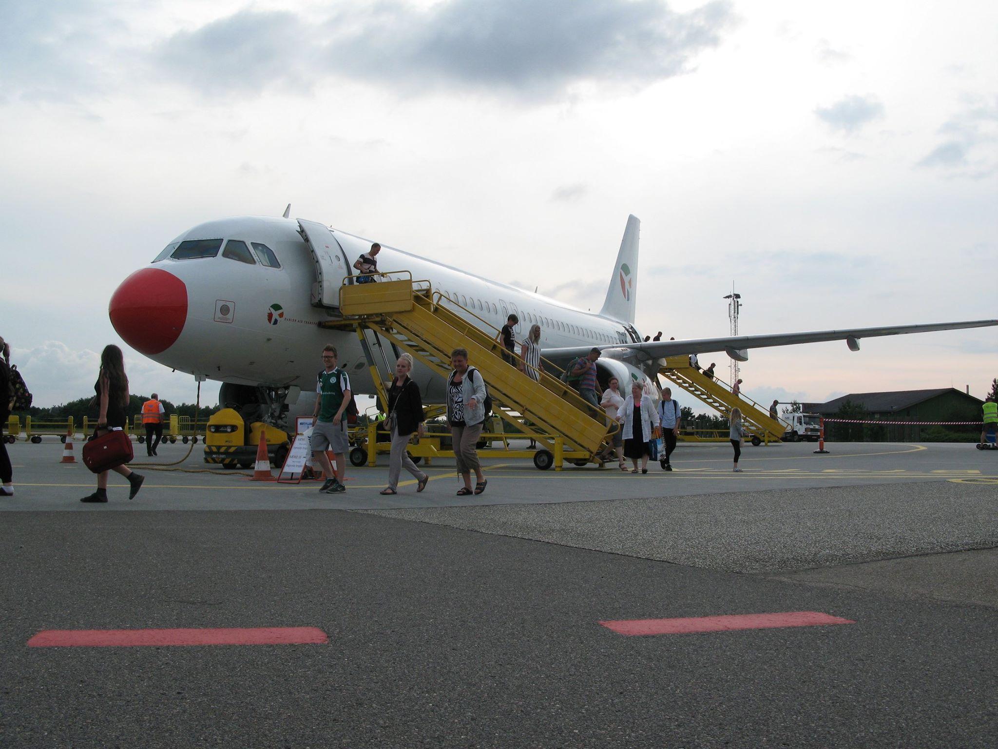 Danish Air Transport A320 i Midtjyllands Lufthavn (Foto: Midtjyllands Lufthavn)