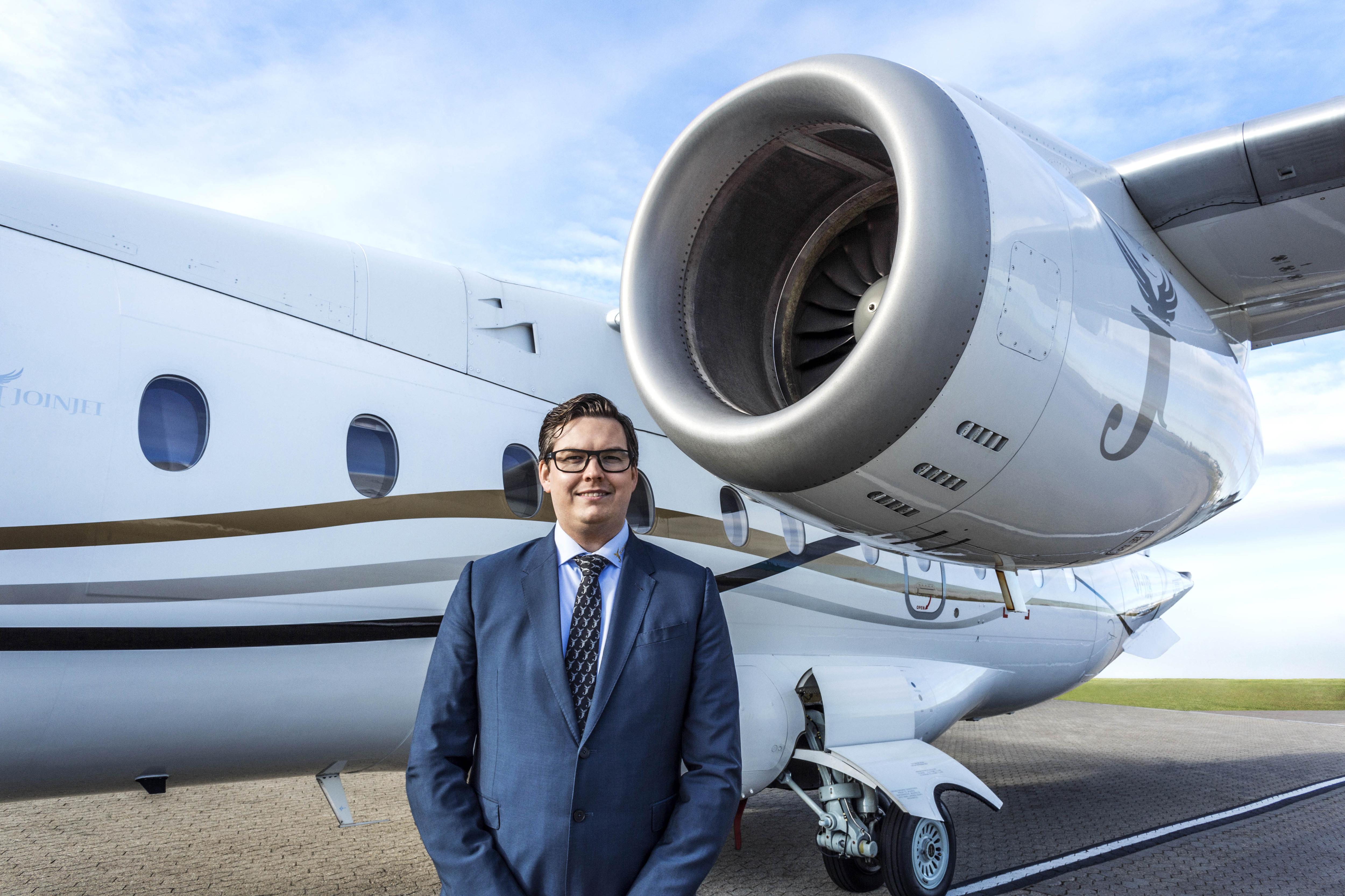 Kristoffer Sundber, administrerende direktør i Sun-Air of Scandinavia. (Foto: Sun-Air)