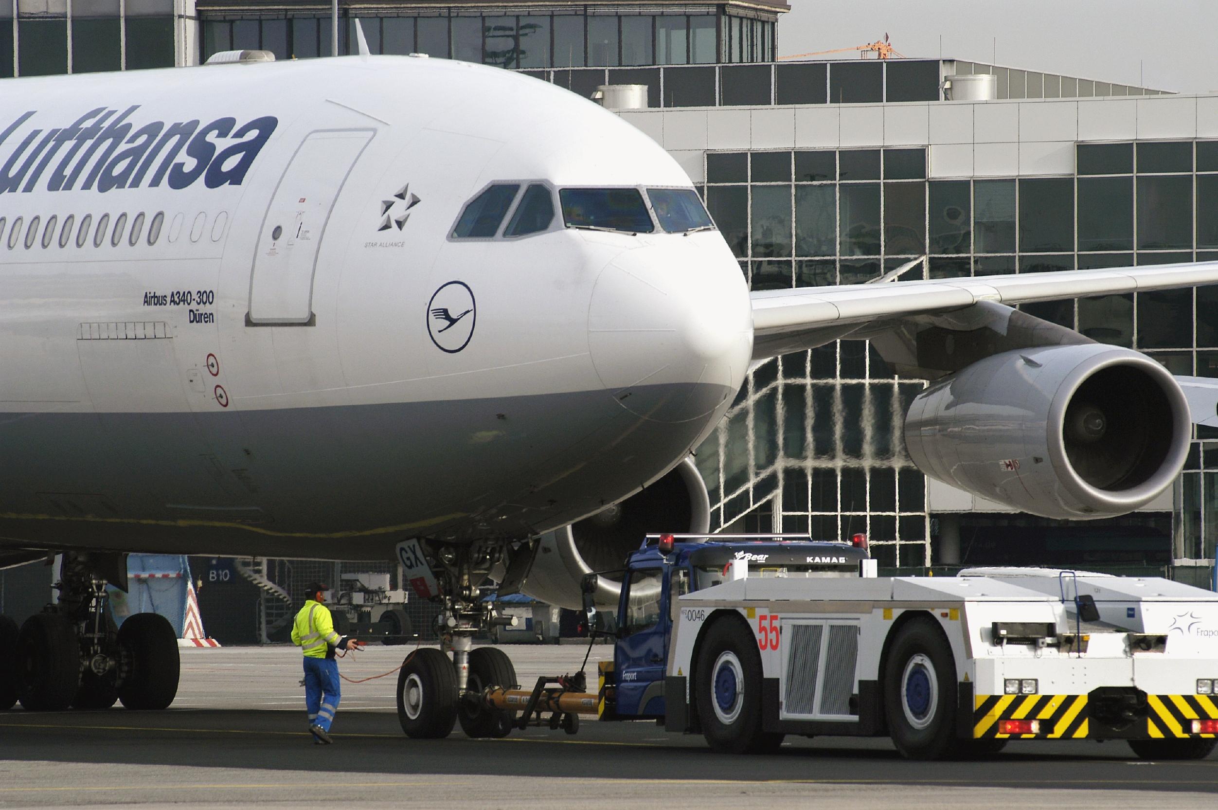 Lufthansa Airbus A340-300 (Foto: Foto: Ingrid Friedl Lufthansa,11.2005 )