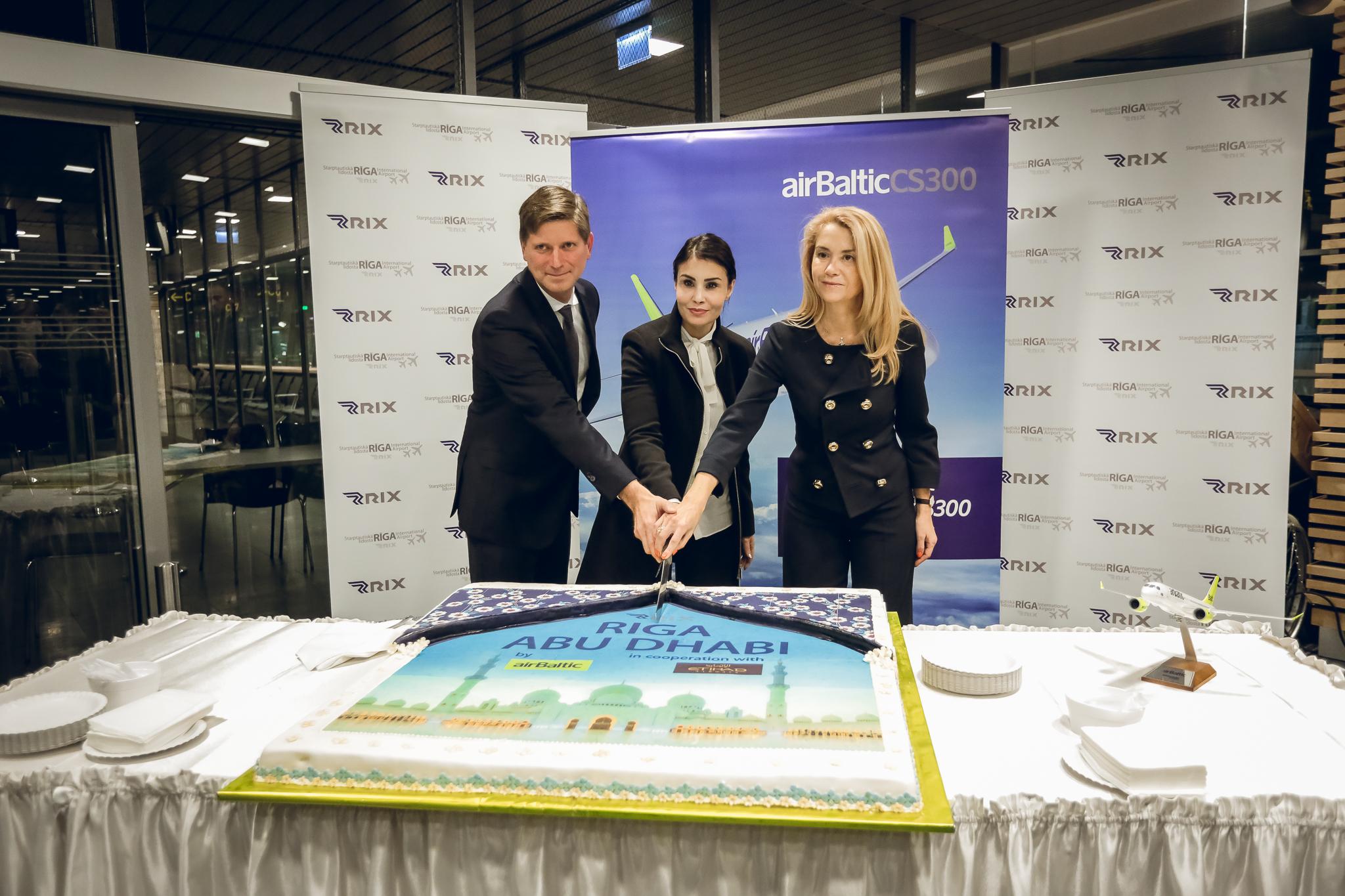 Åbning af ny rute fra Riga til Abu Dhabi (Foto: airBaltic)