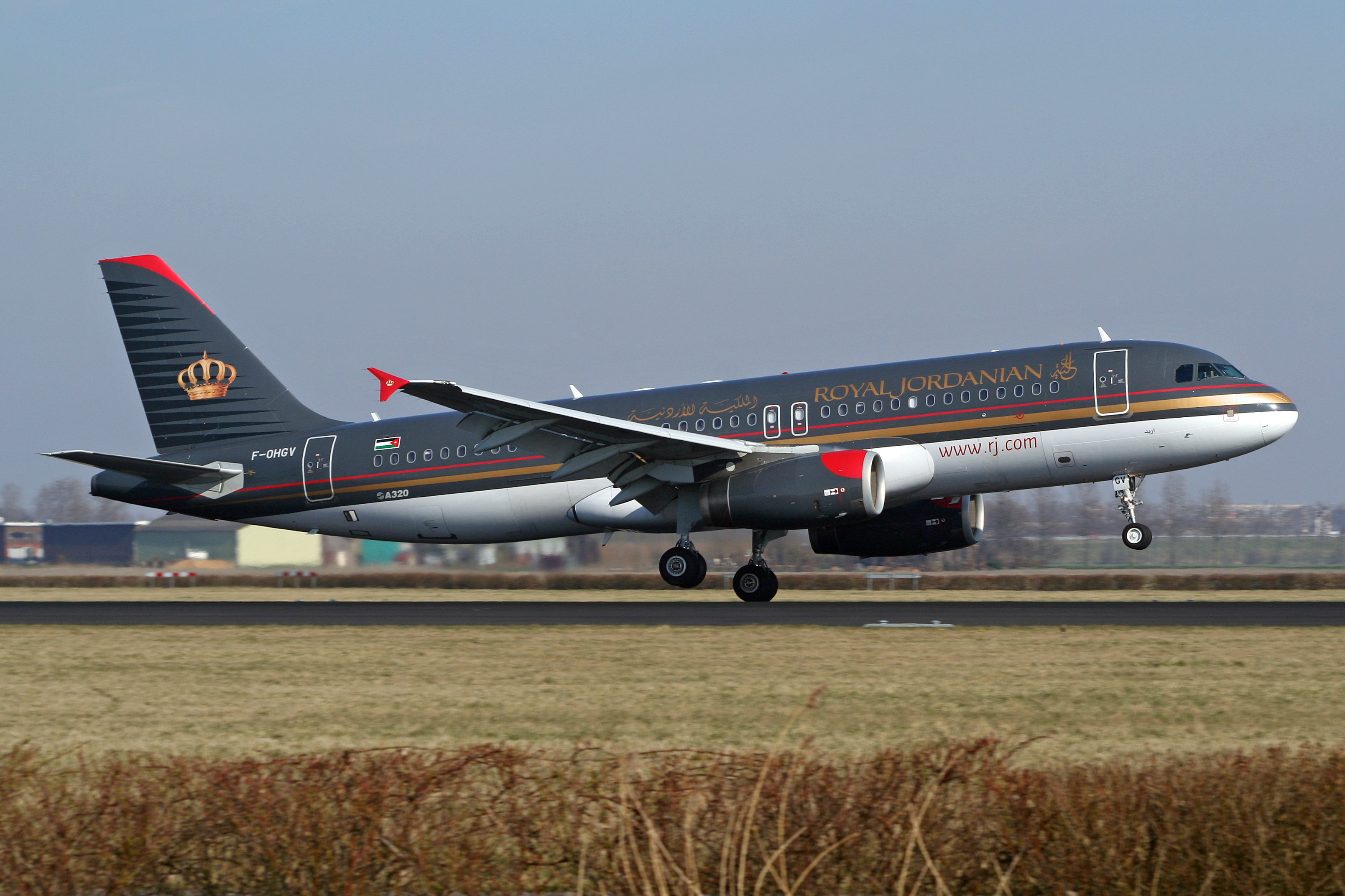 En Airbus A320 fra Royal Jordanian Airlines. Foto: Björn Strey