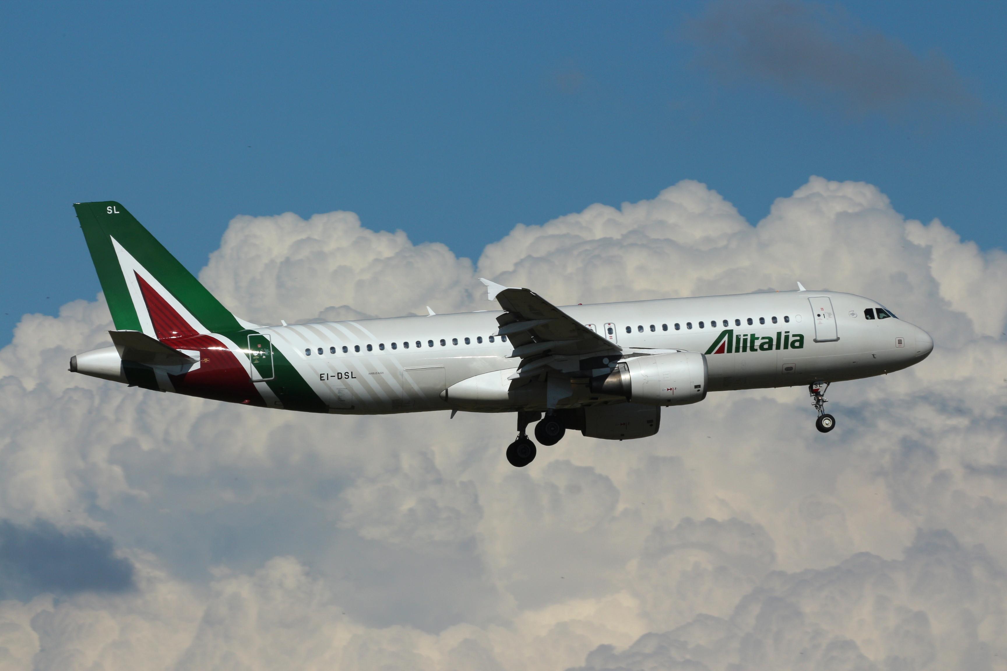 En Airbus A320 fra Alitalia. Foto: Alessandro Ambrosetti