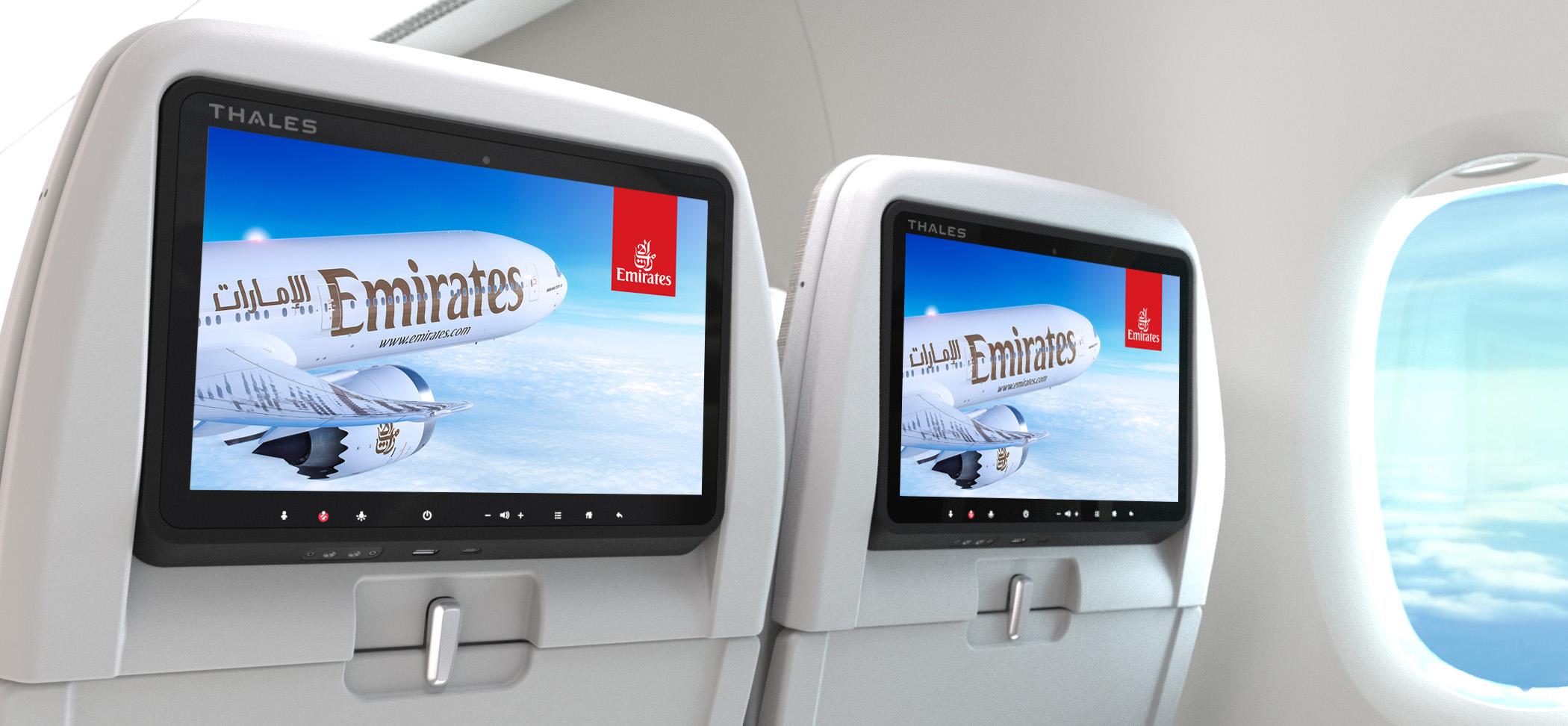 Det nye Thales-underholdningssytem. Foto: Emirates