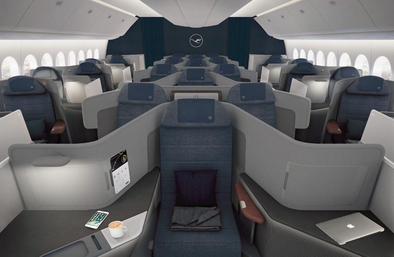 Ny Business Class-kabine i Boeing 777-9. (Foto: Lufthansa)