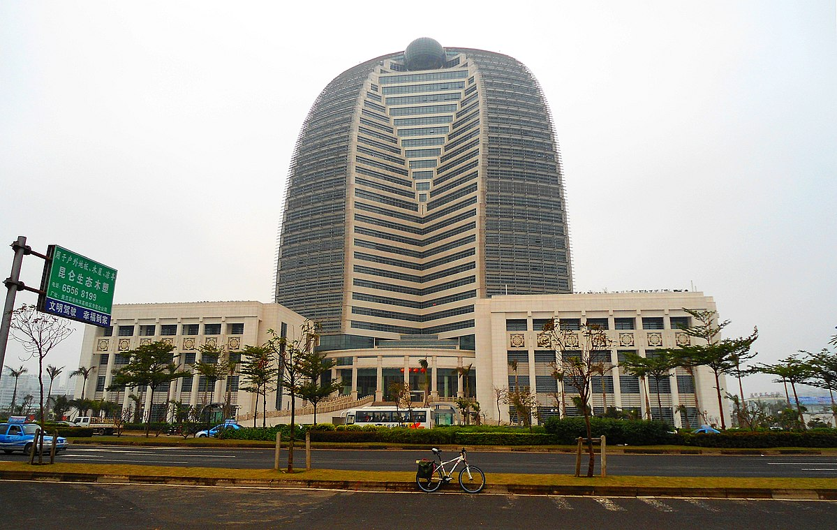 HNA Building (New Haihang Building) er hoedkontor for Hainan Airlines (Foto: Anna Frodesiak | Creative Commons 1.0)