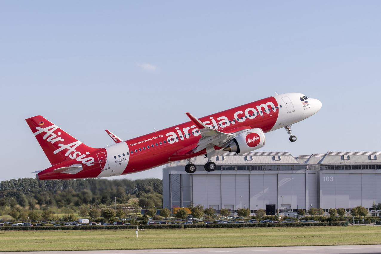 Den første kinesisk samlede Airbus A320neo. Foto: AirAsia.