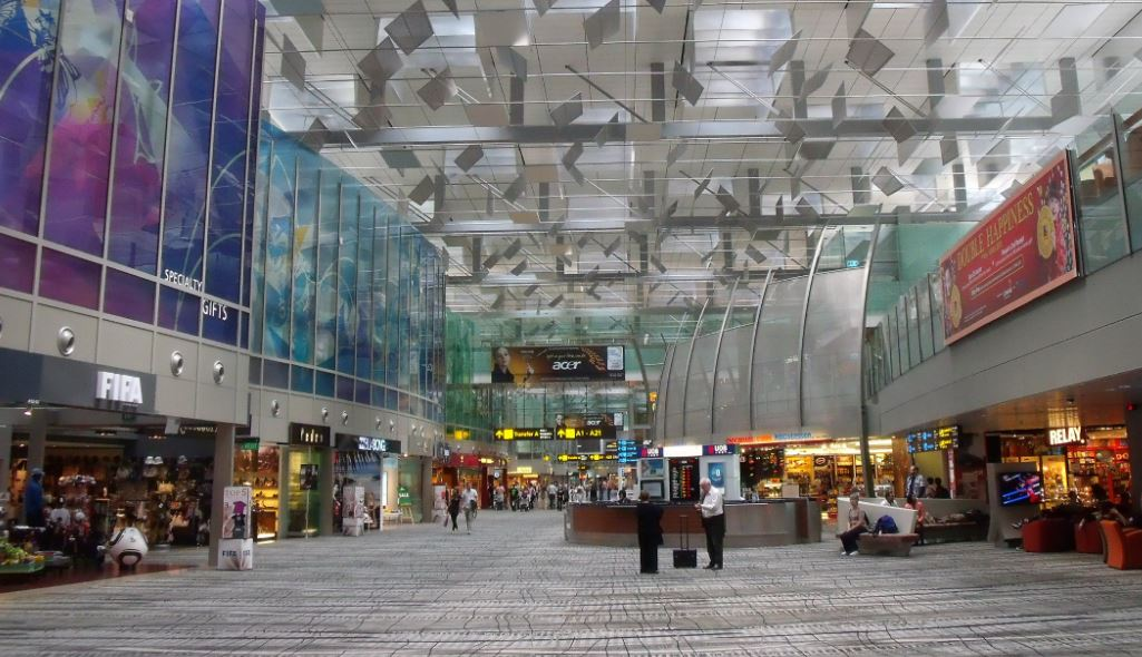 Singapore Changi-lufthavnens terminal 3. Arkivfoto.