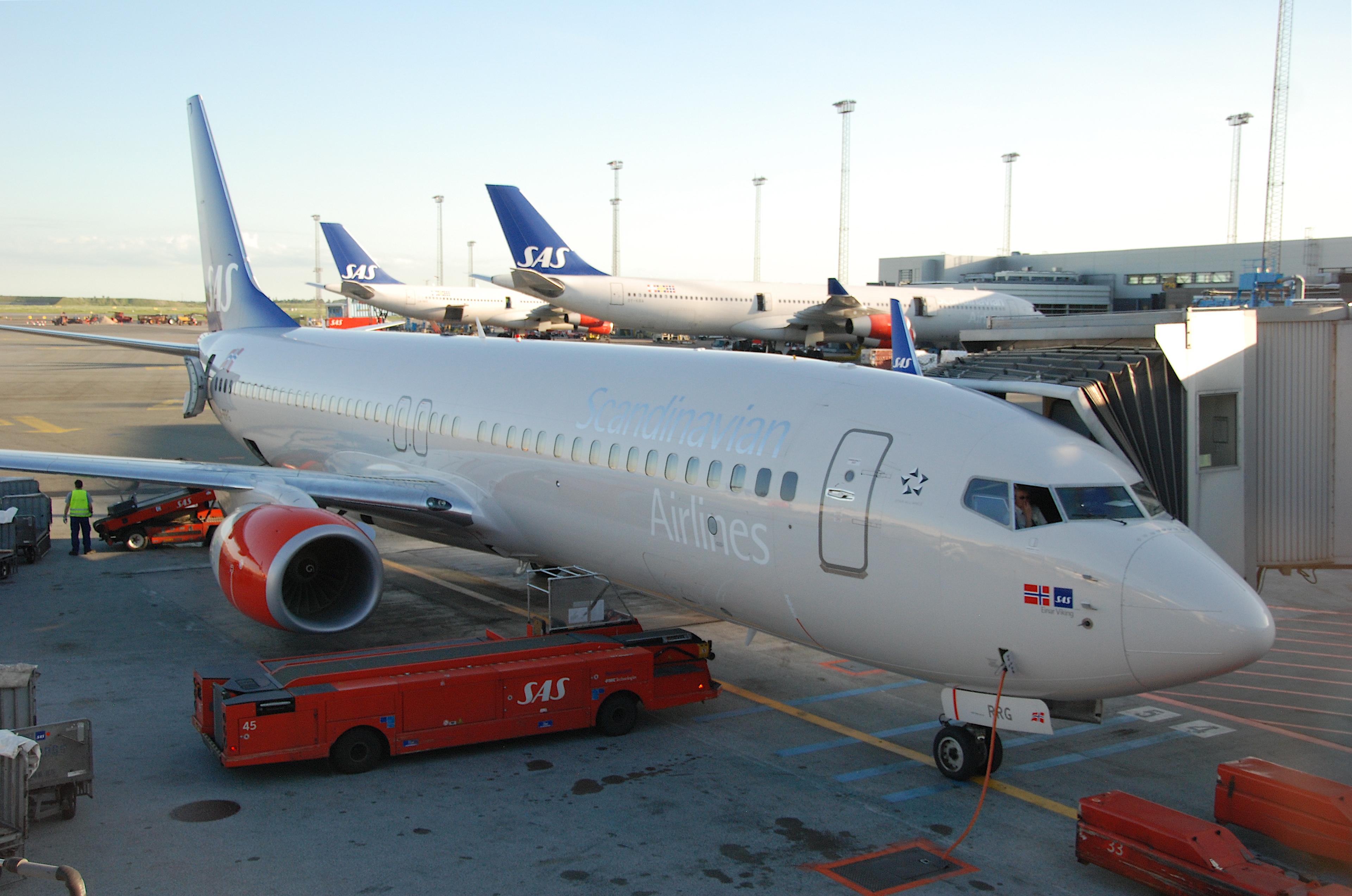 SAS-fly i Københavns Lufthavn. (Foto: Aero Icarus / Wikimedia Commons)