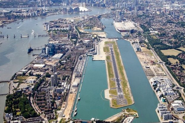 London City Airport. Arkivfoto.