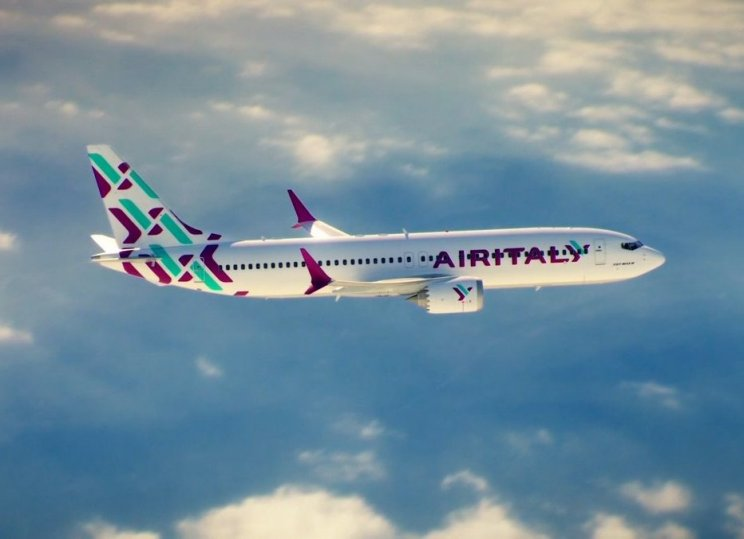 Air Italys farver præsenteret på en Boeing 737 MAX 8. Foto: Air Italy