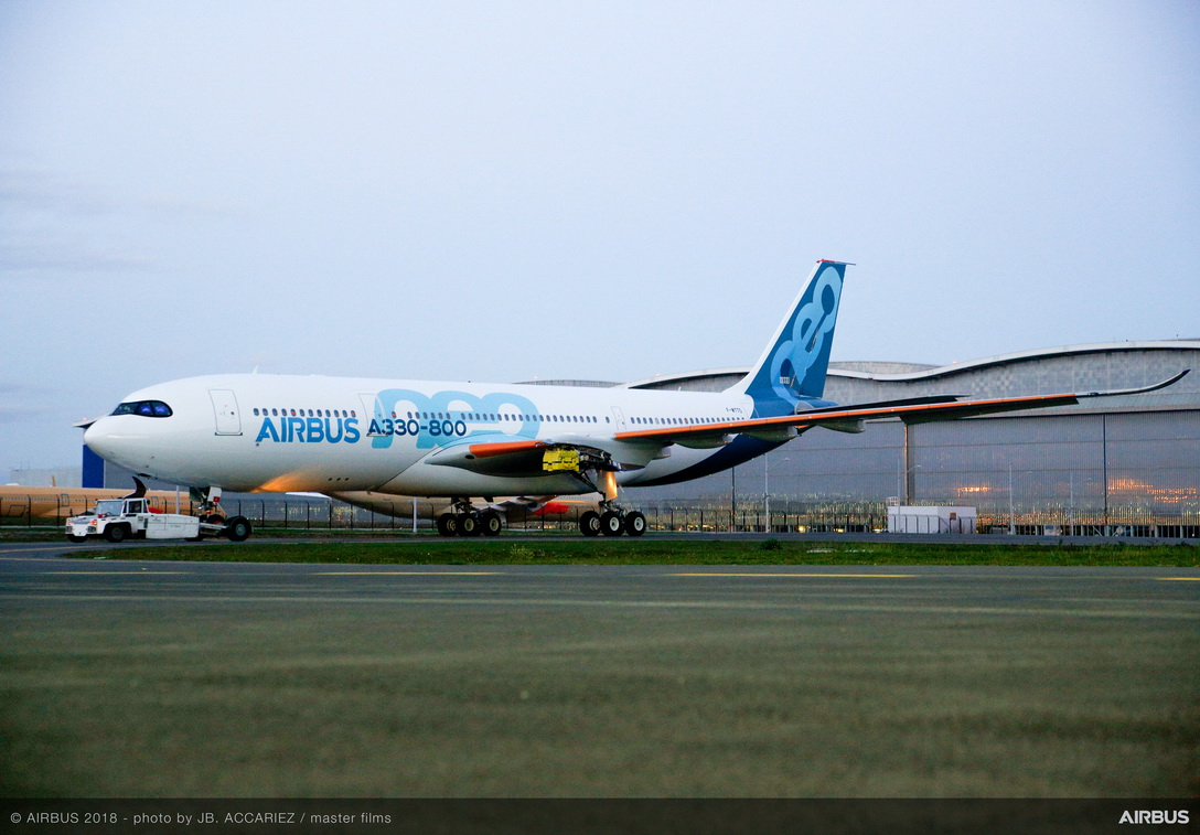 Det nye medlem af A330-familien klar til testprogram. Foto: Airbus, J.B. Accariez
