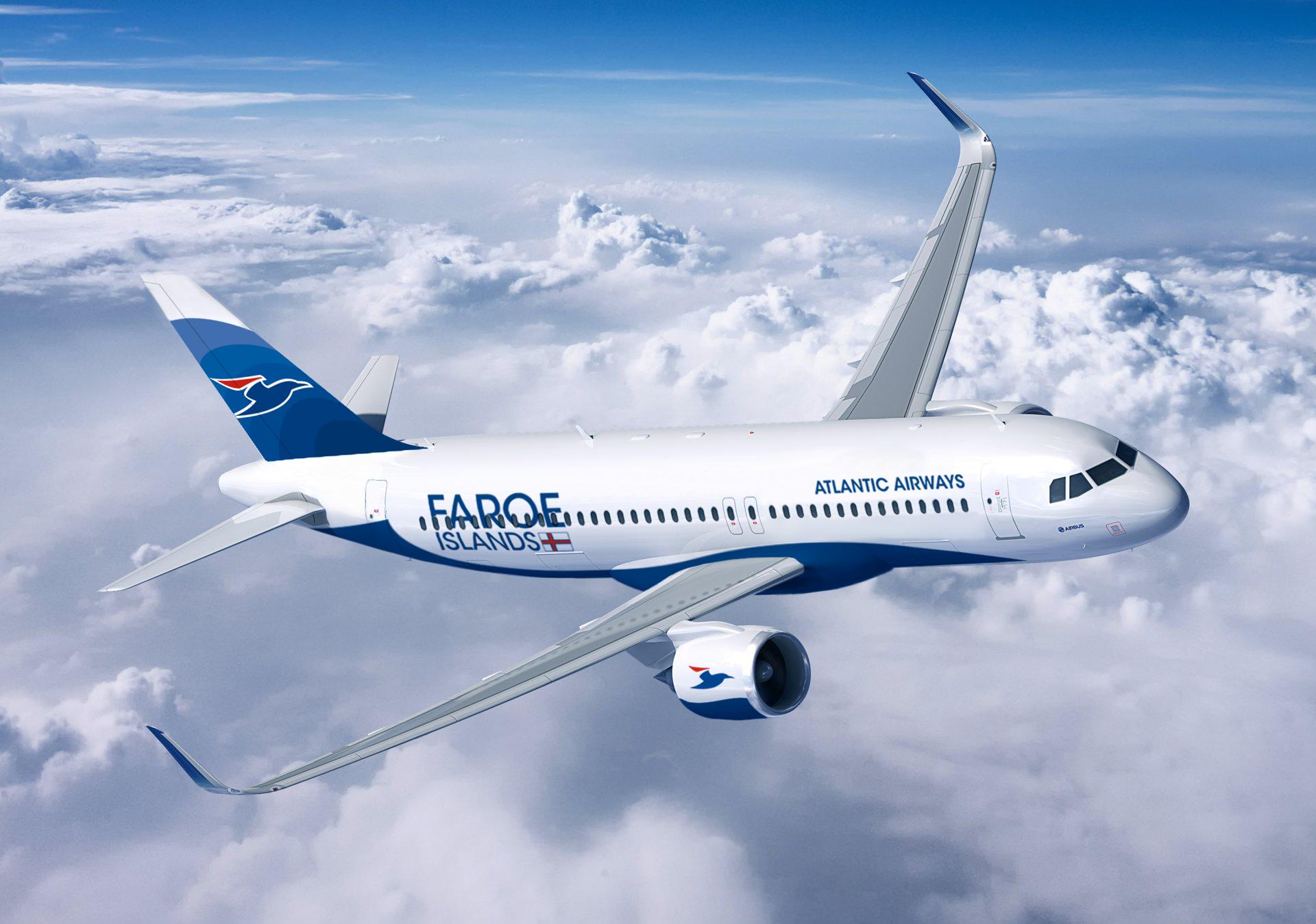 Airbus A320-200neo i Atlantic Airways-bemaling. (Foto: Atlantic Airways)