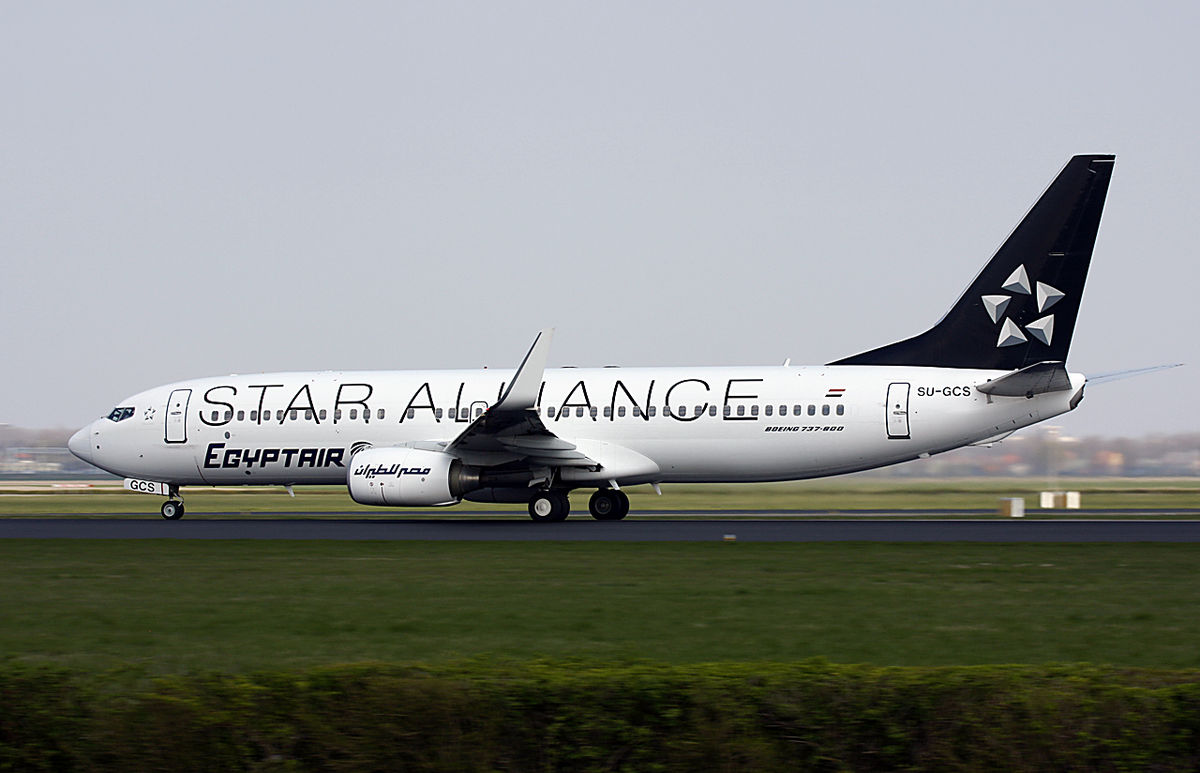 Boeing 737-800 fra Egyptair i Star Alliance-bemaling. (Foto Kok Vermeulen | Creative Commons 2.0)