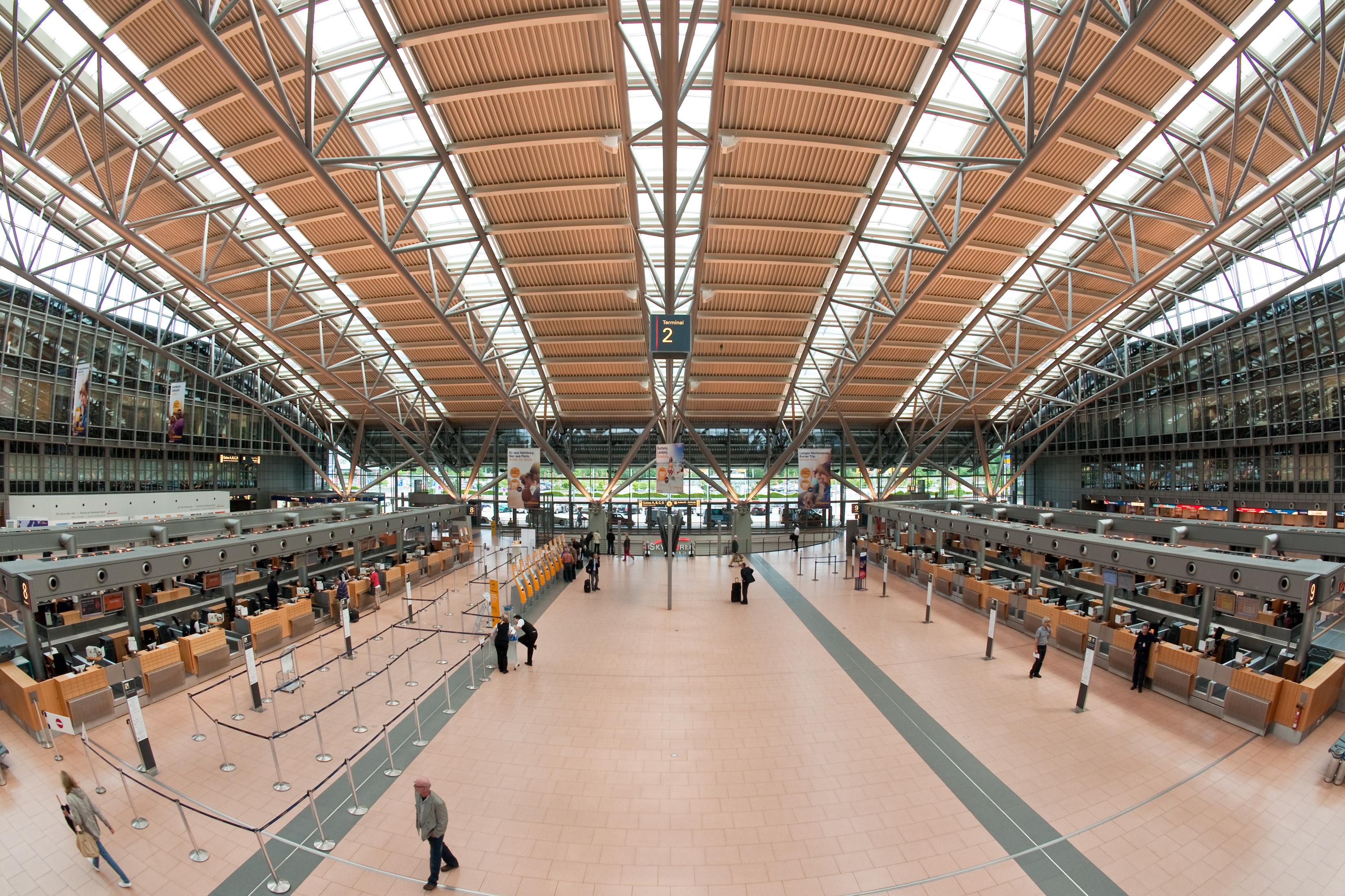 Hamborg Airport Terminal 2. Foto: Medvedev / Wikimedia Commons.