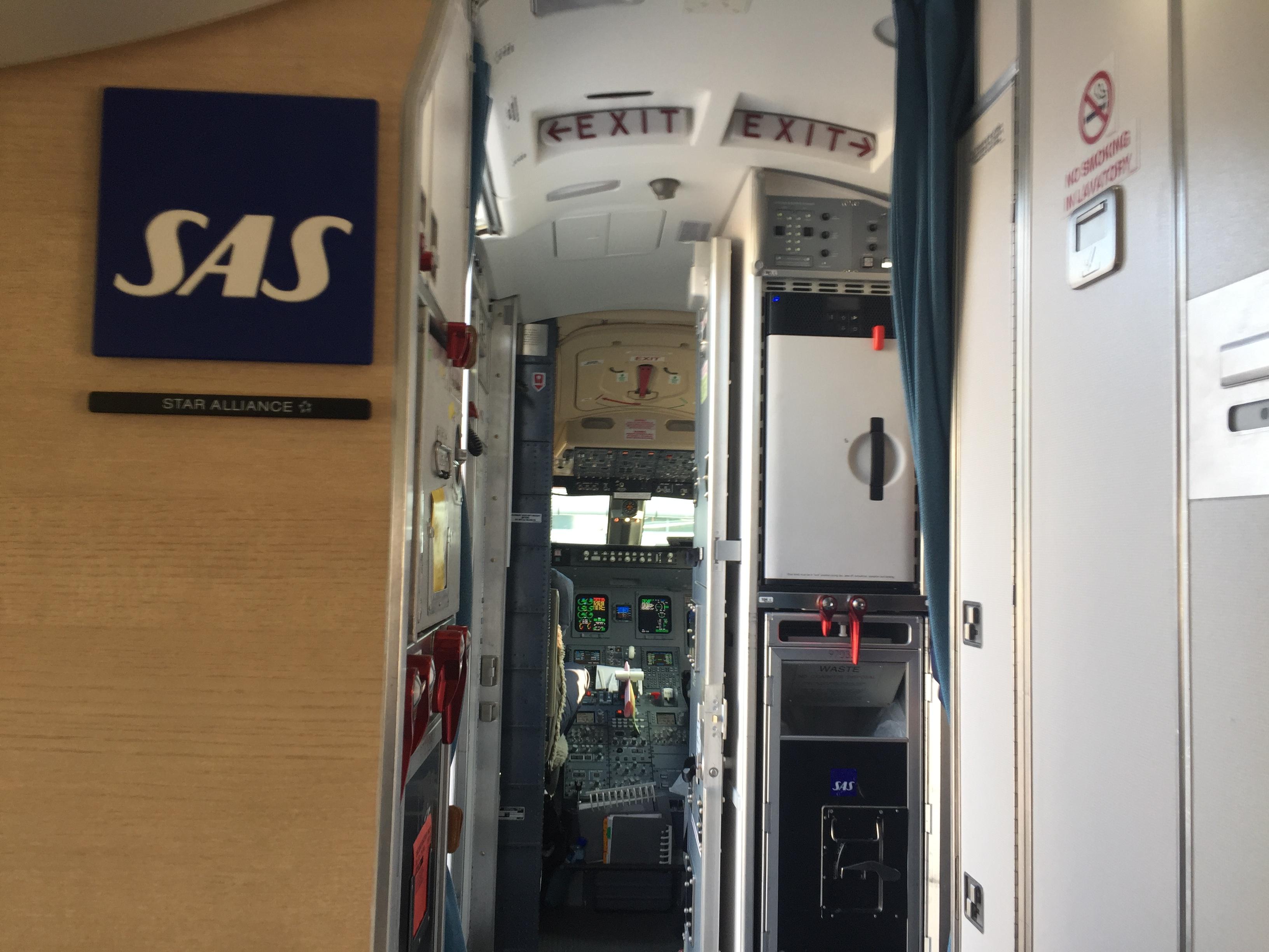 Udsigten fra sæde 1C i CRJ900-flyet fra SAS. Foto: Danny Longhi Andreasen