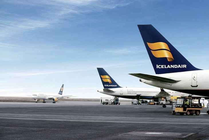 Icelandair-fly i Keflavik International Airport (Foto: Icelandair)