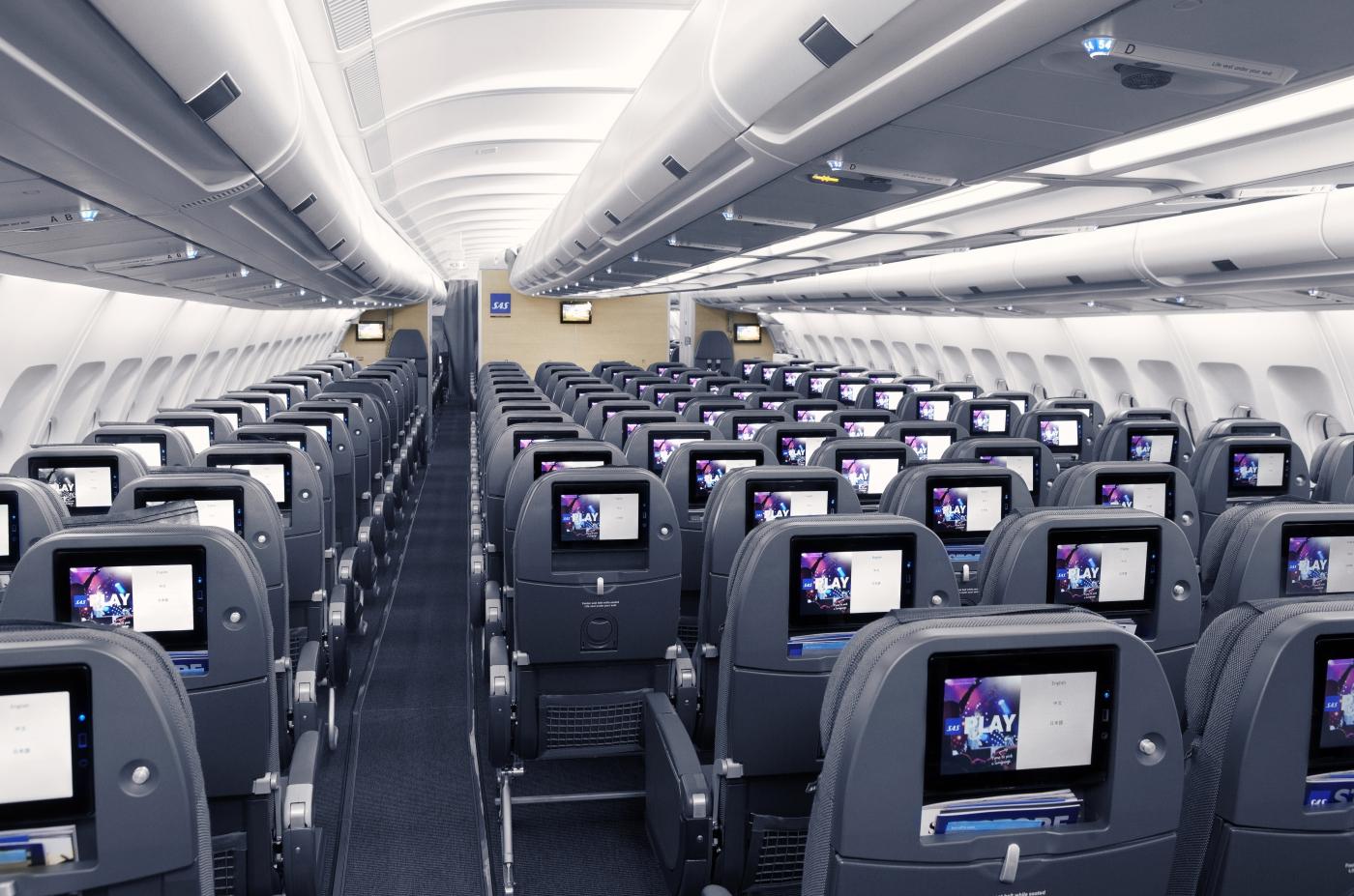 SAS Go-kabine på langdistancefly (Foto: SAS)