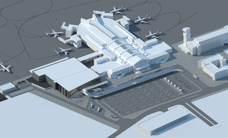 Udvidelse af terminalen i Vilnius. Foto: Vilnius Airport.