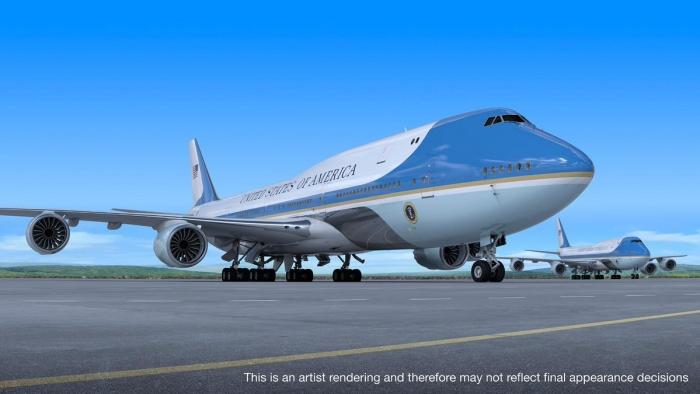 Der skal produceres to Air Force One på basis af Boeing 747-8. Foto: Boeing.
