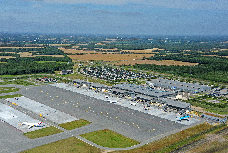Billund Lufthavn set fra luften (Foto: BLL)