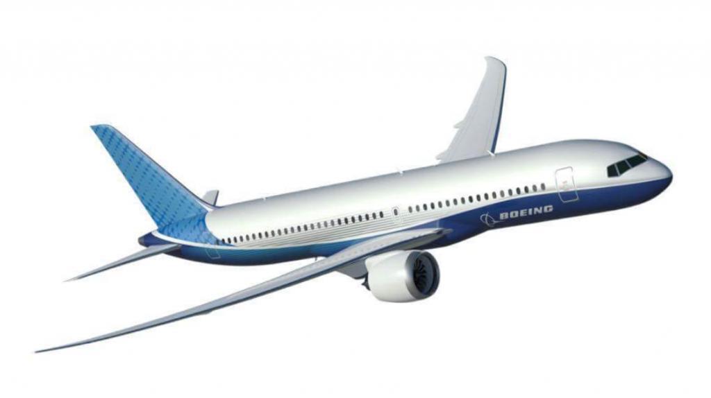 En foreløbig illustration af Boeings måske kommende 797-model. Foto: Boeing