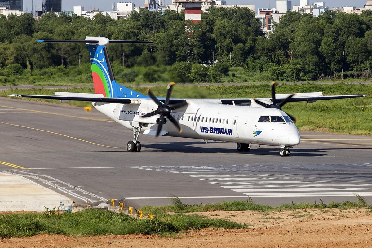 Bombardier Dash8-Q400 fra US-Bangla Airlines. (Foto:  Murad Hashan | Creative Commons 4.0)