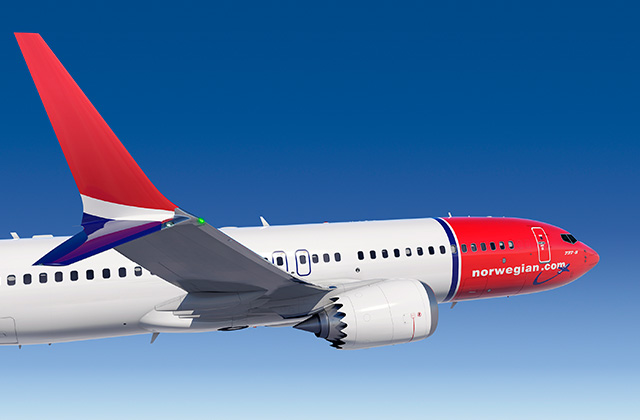 Norwegian Boeing 737 MAX 8 (Foto: Boeing Commercial Airplanes)