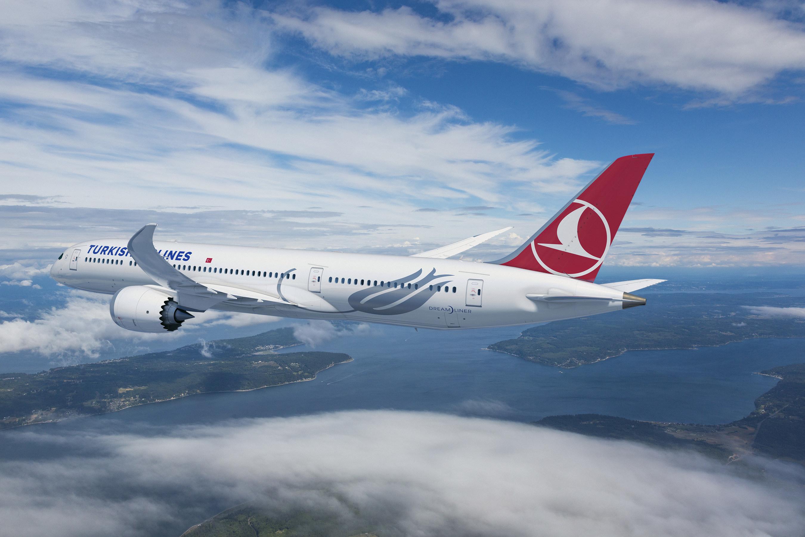 Turkish Airlines Boeing 787-9 Dreamliner. (Boeing illustration) (PRNewsfoto/Boeing)