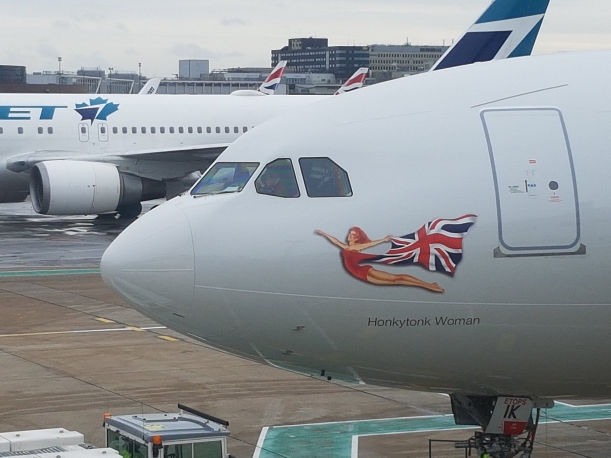 A330-200 med navnet Honky Tonk Woman fra Virgin Atlantic Airways. (Foto: Virgin Atlantic | Twitter)