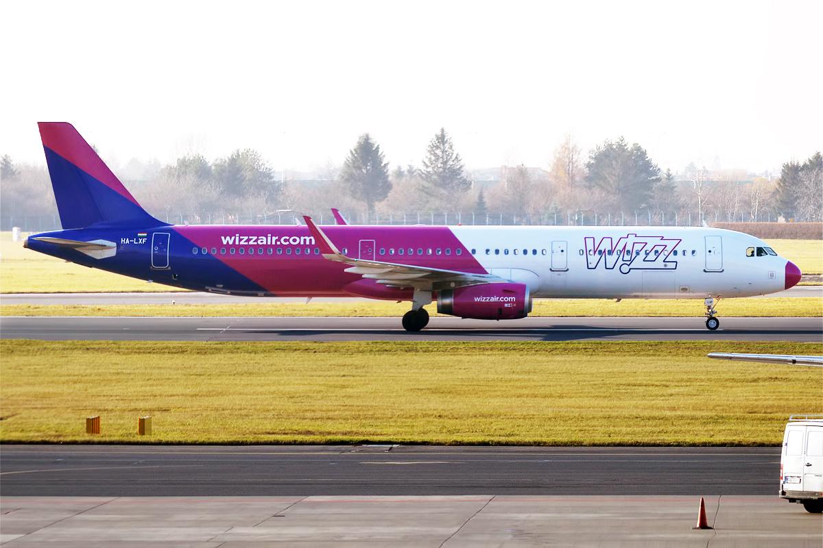 En Airbus A321 fra Wizz Air. Foto: Anna Zvereva