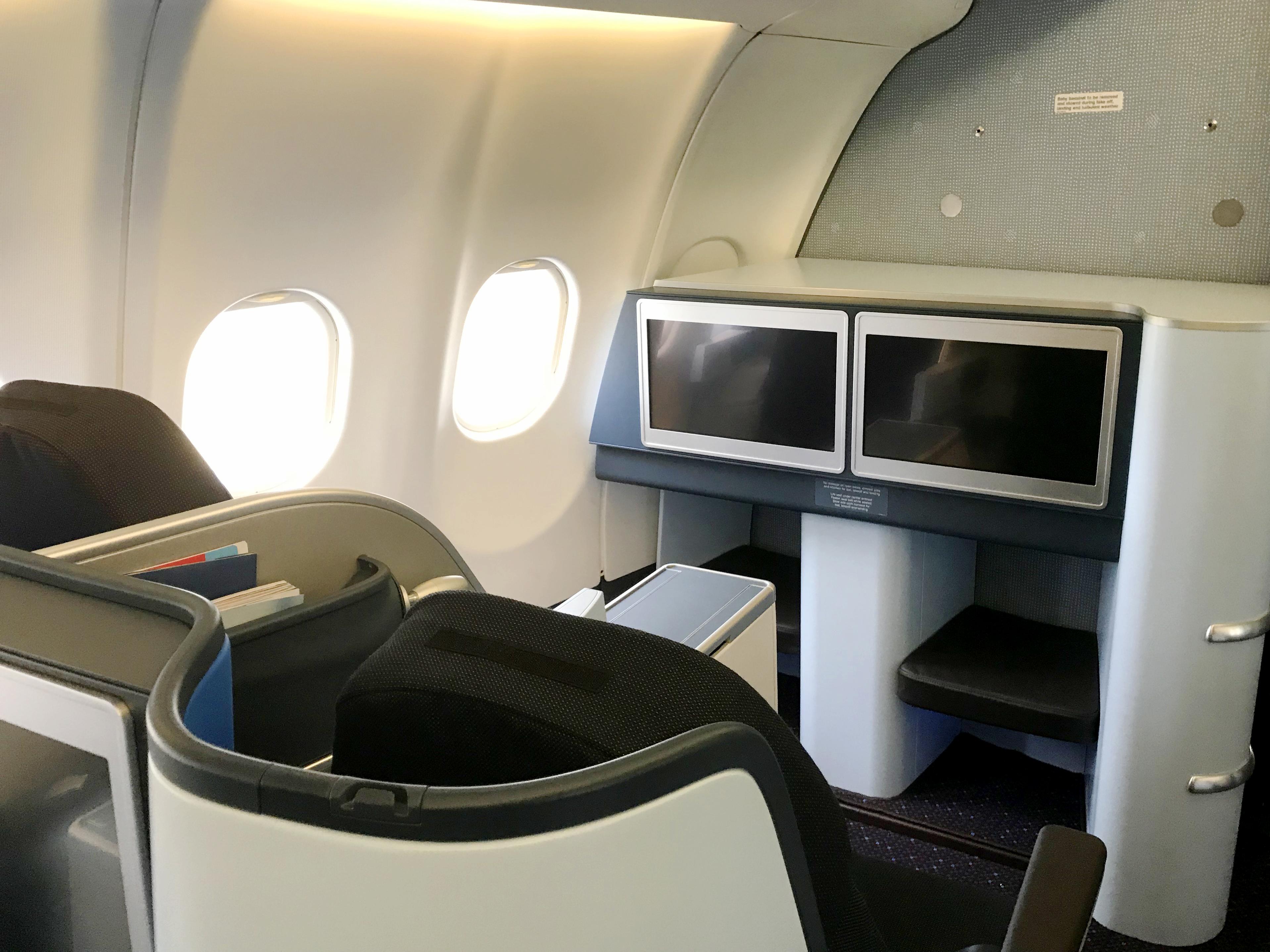 De nye sæder på World Business Class på KLMs Airbus A330-200-fly. Foto: KLM