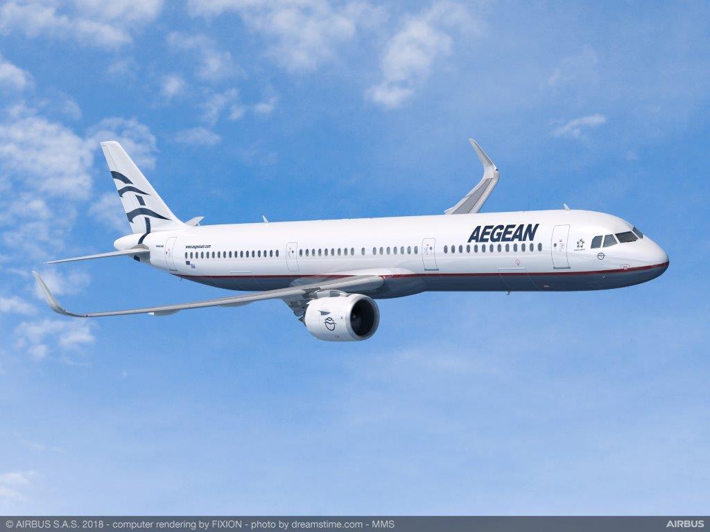 Aegean Airlines har lagt ordre på op til 42 nye fly fra Airbus A320-familien – herunder A321neo. Foto: Aegean Airlines