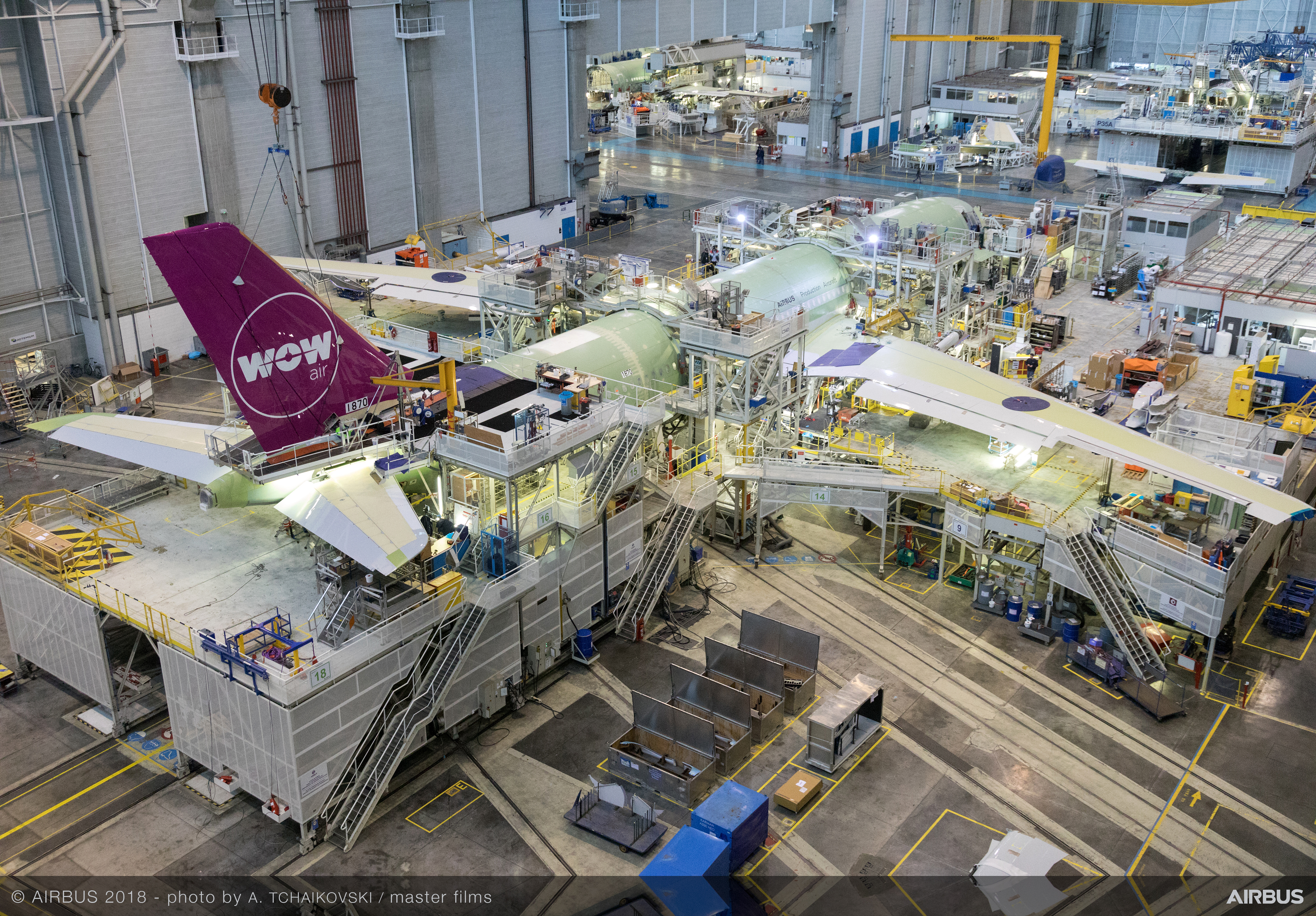 WOW airs nye Airbus A330neo-fly er i sidste fase af produktionen. Foto: WOW air