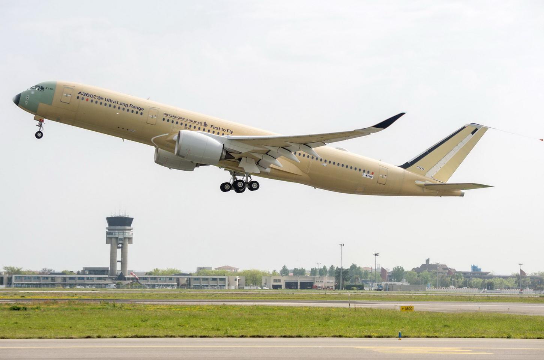 Airbus A350-900 ULR på første flyvning (Foto: Airbus)