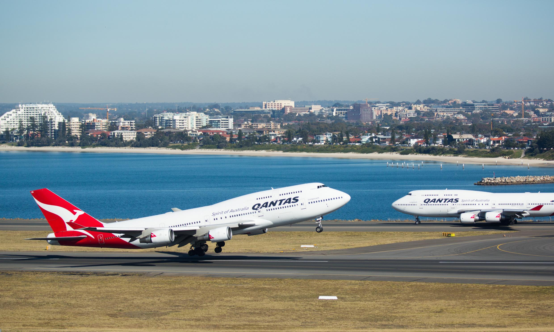 Det australske flyselskab Qantas sender de sidste Boeing 747-fly på pension i 2020. Foto: Qantas