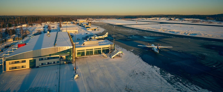 Den finske lufthavn Tampere-Pirkkala Airport bliver i øjeblikket renoveret. Foto: Finavia