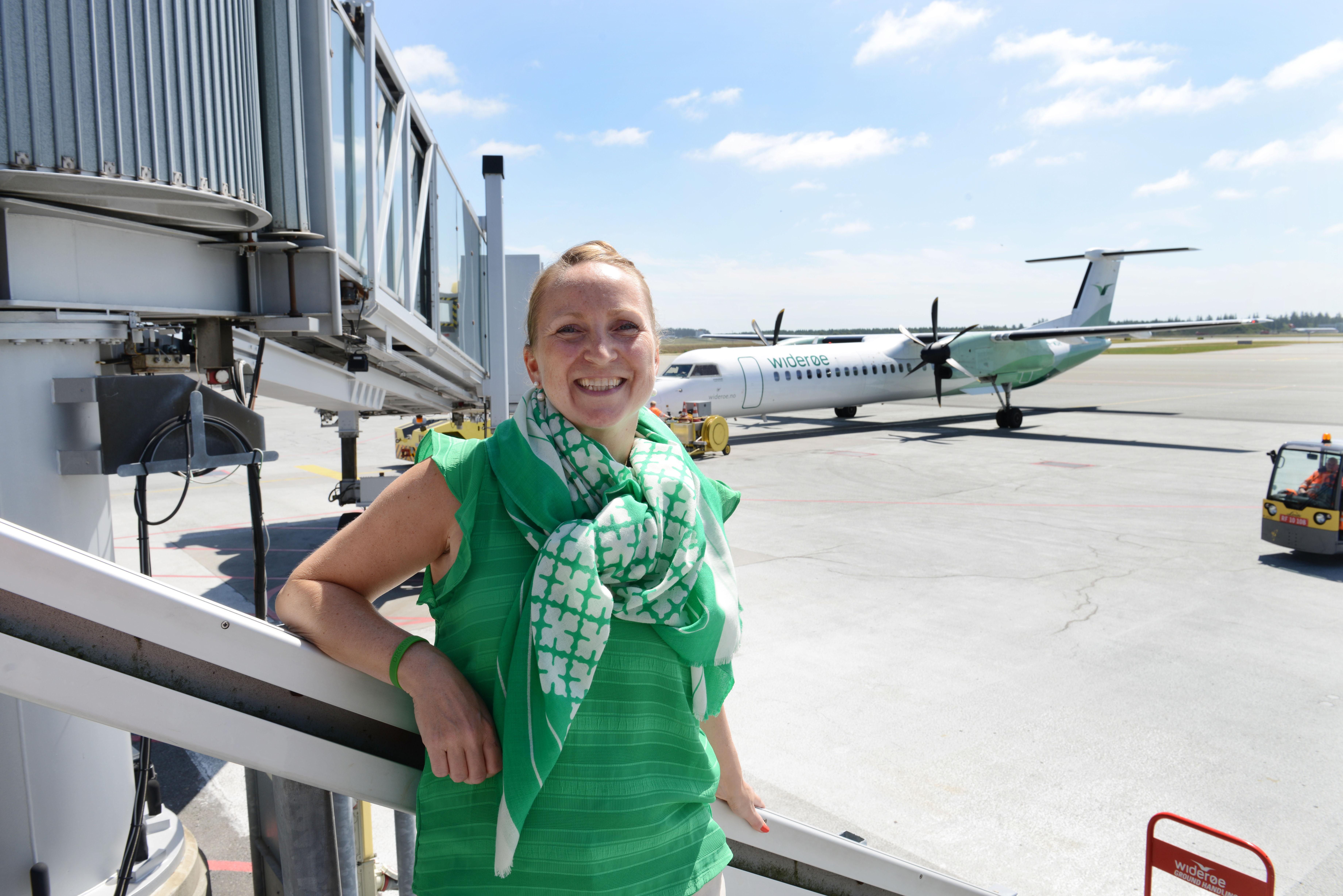 Informationschef i Widerøe, Catarina Solli, ser frem til samarbejdet med Billund. (Foto: Joakim J. Hvistendahl)