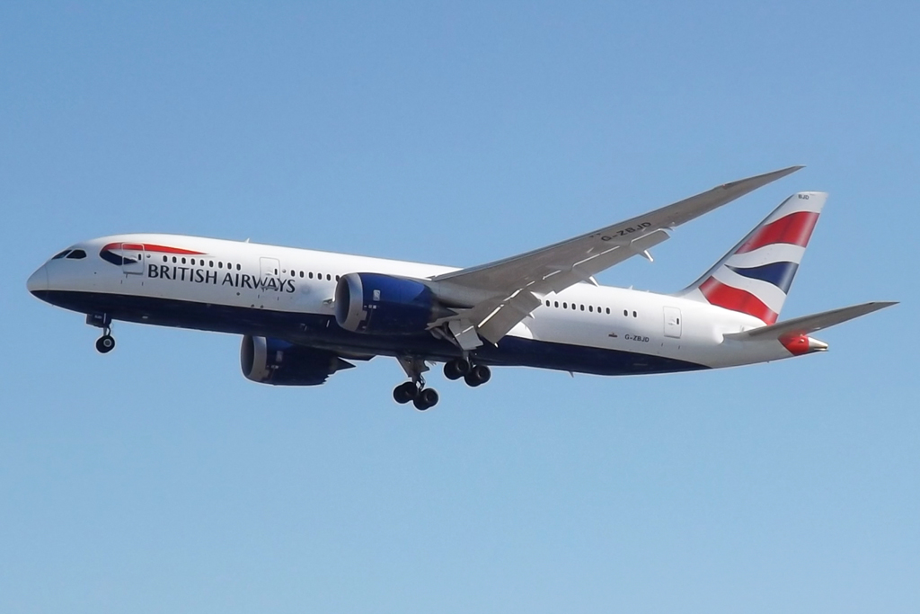 En Boeing 787-8 Dreamliner fra British Airways. Foto: Mark Harkin