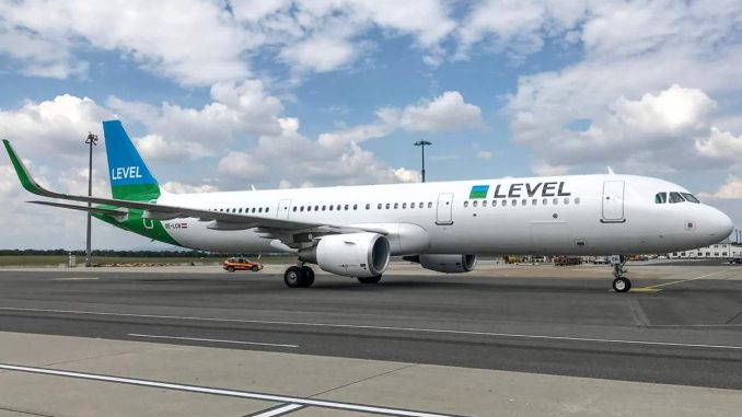 Airbus A321-200 fra LEVEL. (Foto: LEVEL)