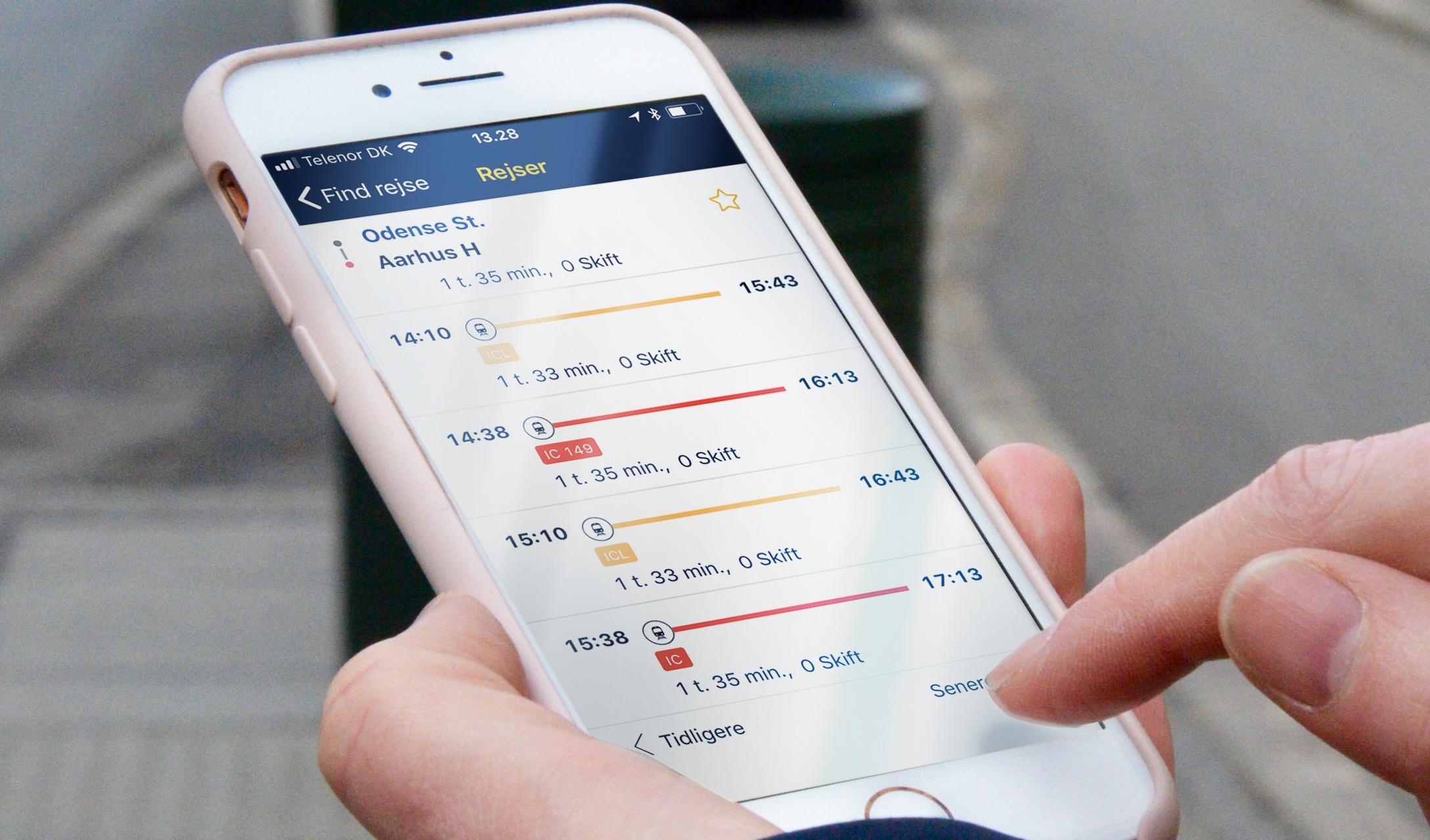 Rejseplanen er Danmarks fjerde mest populære app. (Foto: Rejseplanen)