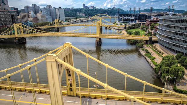 Pittsburgh i Pennsylvania er blandt andet kendt for mange broer.