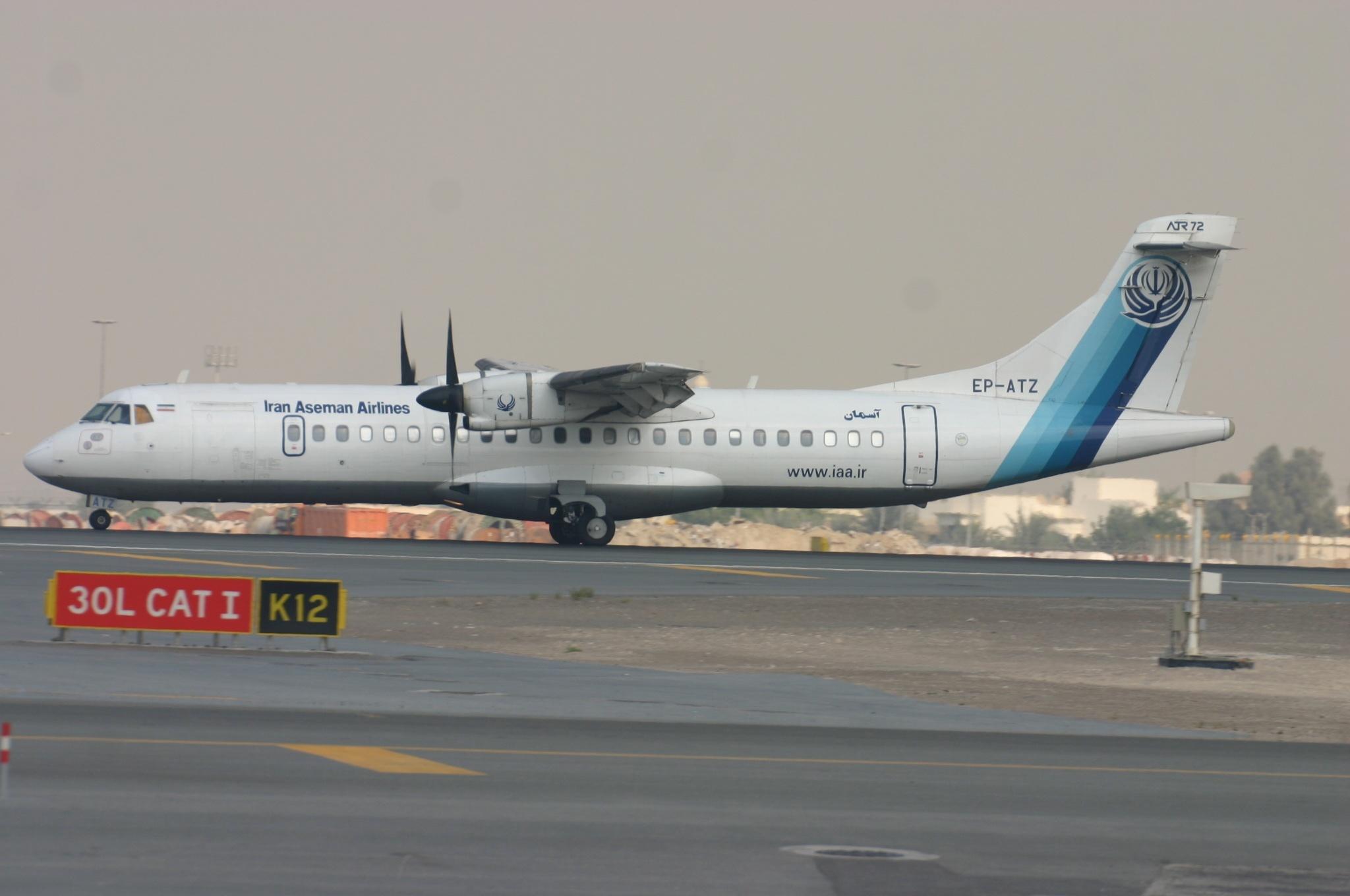 En ATR 72-500 fra det iranske flyselskab Iran Aseman Airlines. Foto: Aeroprints.com