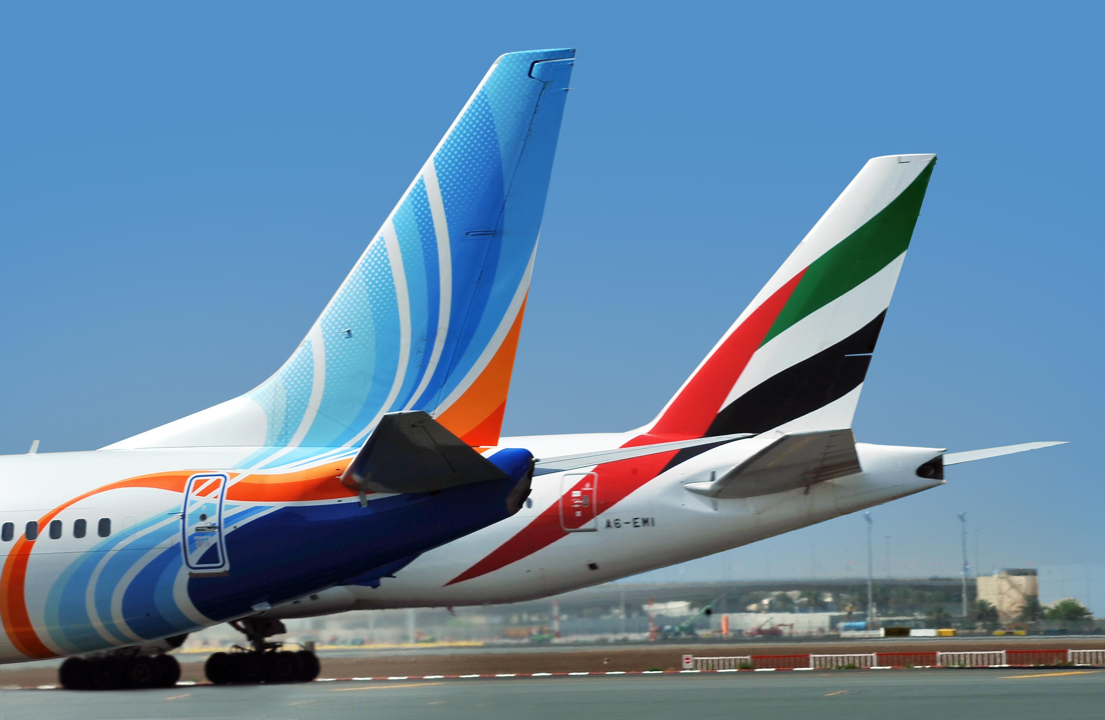 De to Dubai-baserede flyselskaber flydubai og Emirates slår deres bonusprogrammer sammen til ét. Foto: flydubai