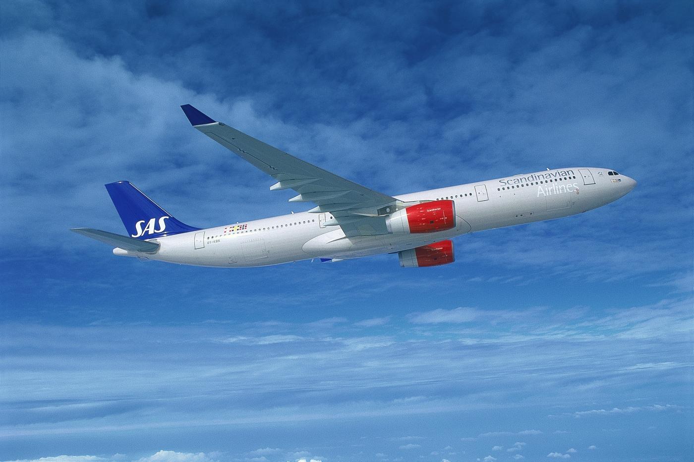 Airbus A330-300 fra SAS. (Foto: SAS AB)